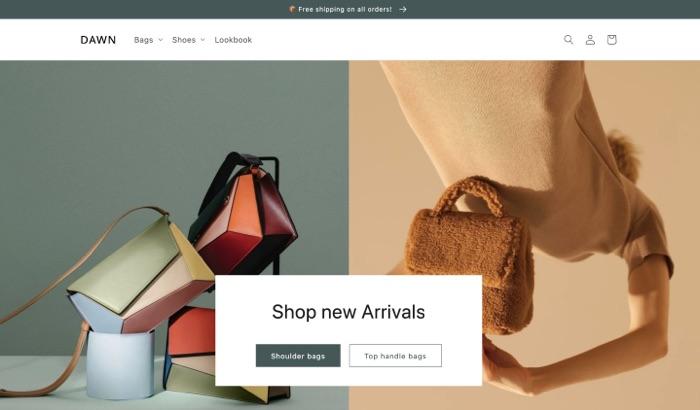 Shopify 2.0 Dawn Theme